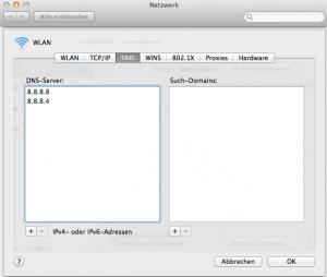 DNS Einstellungen Mac OS
