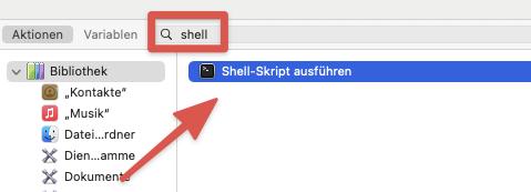 Shell-Skript ausführen